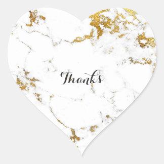 Adesivo Coração De Carrara do ouro coração de pedra branco de