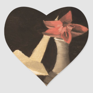Adesivo Coração De Origami vida ainda