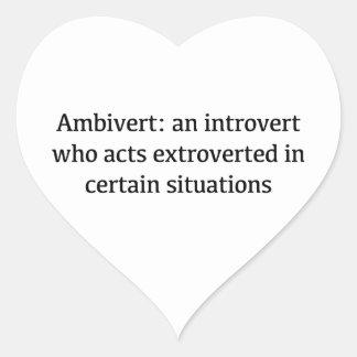 Adesivo Coração Definição de Ambivert