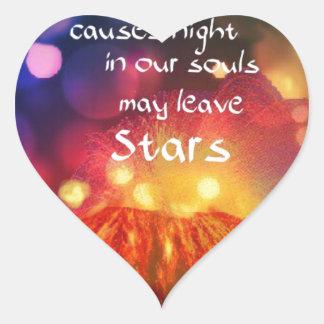 Adesivo Coração Deixa para fora o melhor em você