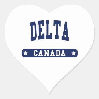 Adesivo Coração Delta