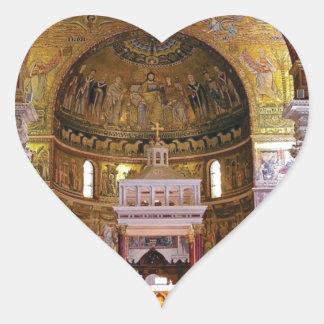 Adesivo Coração Dentro da igreja yeah