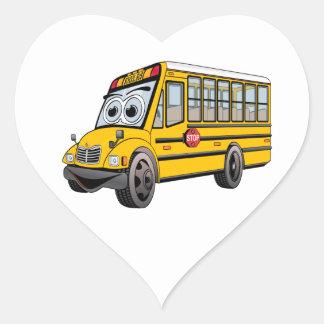 Adesivo Coração Desenhos animados 2017 do auto escolar