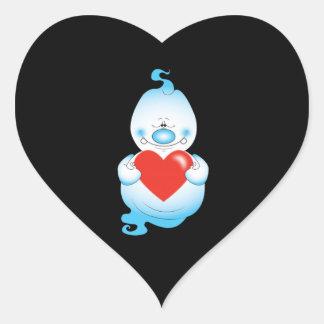 Adesivo Coração Desenhos animados bonitos do fantasma do Dia das