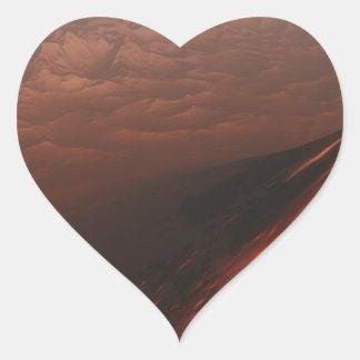 Adesivo Coração Deserto estrangeiro do planeta