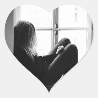 Adesivo Coração desesperado
