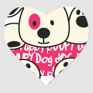 Adesivo Coração desgaste dos miúdos, cão do bebê