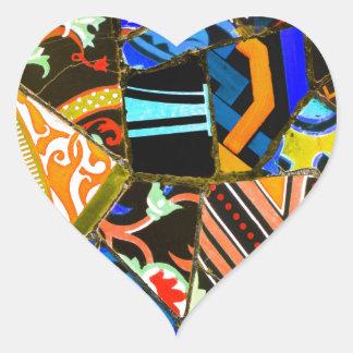 Adesivo Coração Design abstrato