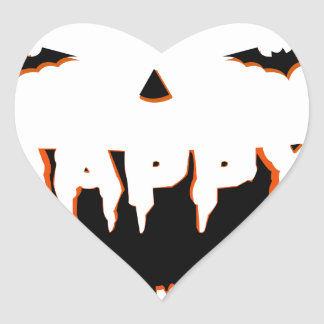 Adesivo Coração Design bonito do Dia das Bruxas