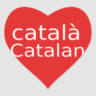 Adesivo Coração Design Catalan da língua