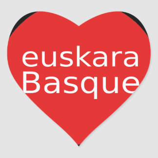 Adesivo Coração Design da língua Basque