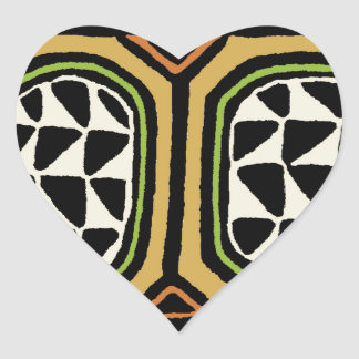 Adesivo Coração Design de matéria têxtil de Kuba do africano