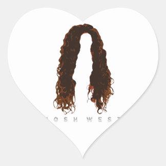 Adesivo Coração Design do cabelo de Josh