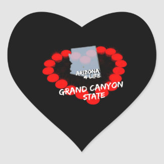 Adesivo Coração Design do coração da vela para o estado de arizona