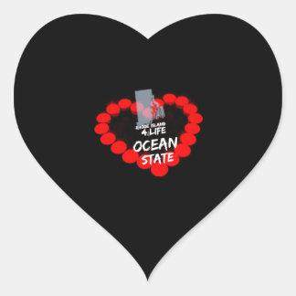 Adesivo Coração Design do coração da vela para o estado de Rhode -