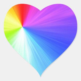 Adesivo Coração Design do espectro do arco-íris