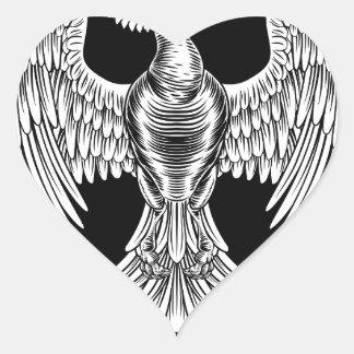Adesivo Coração Design do pássaro do fogo de Phoenix