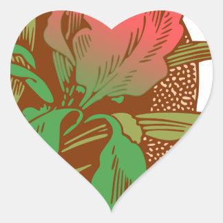 Adesivo Coração Design floral