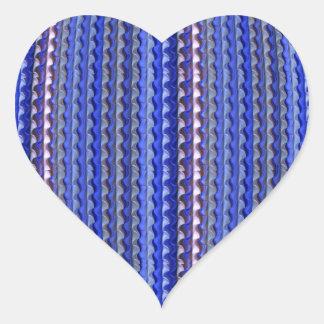Adesivo Coração Design geométrico roxo colorido brilhante mega