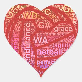 Adesivo Coração Design inspirado do coração das posições do