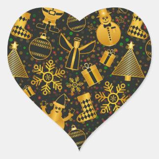 Adesivo Coração design novo do Natal