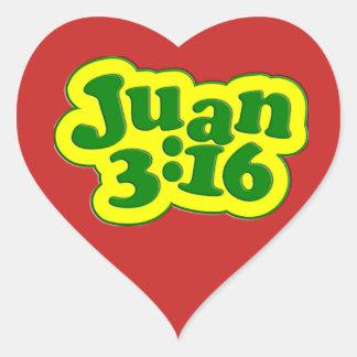 Adesivo Coração Deus amado assim