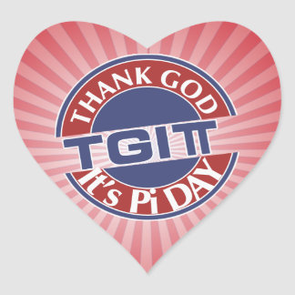Adesivo Coração Deus do obrigado de TGIPi seu dia logotipo