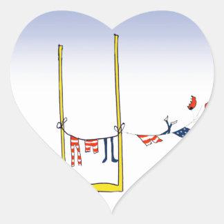 Adesivo Coração Dia da lavagem do futebol, fernandes tony