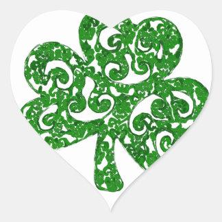 Adesivo Coração Dia de São Patrício