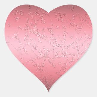 Adesivo Coração Dia dos namorados