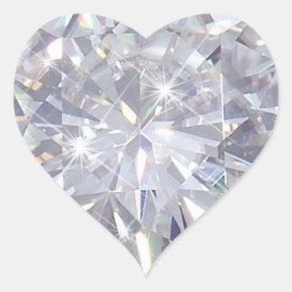Adesivo Coração Dia dos namorados - diamantes