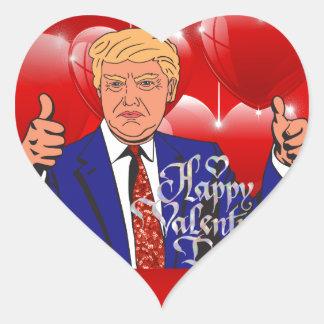 Adesivo Coração dia dos namorados Donald Trump