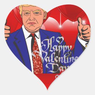 Adesivo Coração dia dos namorados feliz Donald Trump