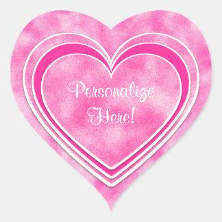 Adesivo Coração Dia dos namorados - os corações cor-de-rosa bonito