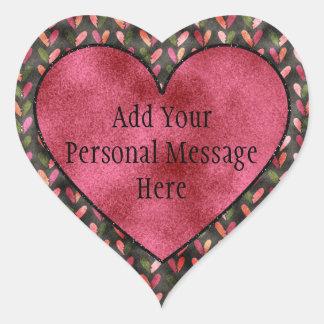 Adesivo Coração Dia dos namorados - padrões do coração do
