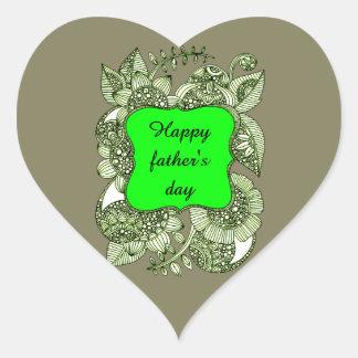 Adesivo Coração Dia dos pais feliz