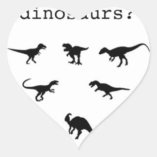 Adesivo Coração Dinossauro