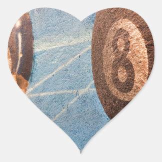 Adesivo Coração Disparado da ilustração das bolas de bilhar na