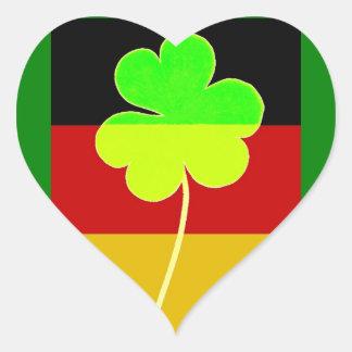 Adesivo Coração Divertimento alemão irlandês de St Patrick do
