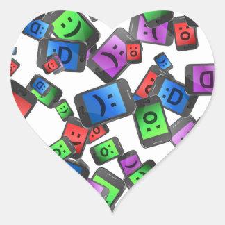 Adesivo Coração Divertimento da telecomunicação