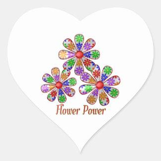 Adesivo Coração Divertimento flower power