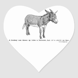 Adesivo Coração DIY DonkeyUnicorn ver2