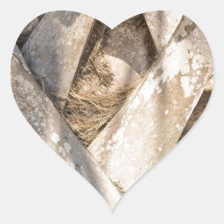 Adesivo Coração Do abstrato ascendente próximo do detalhe da