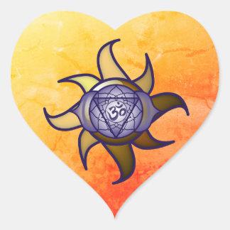 """Adesivo Coração Do """"etiqueta de Lotus da introspecção da ioga"""