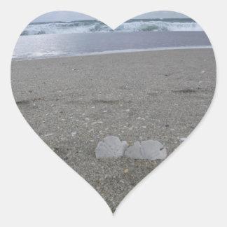 Adesivo Coração Dólares de areia da praia