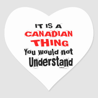 ADESIVO CORAÇÃO É DESIGN CANADENSE DA COISA