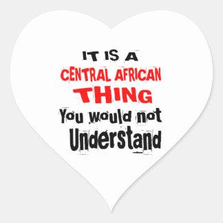 ADESIVO CORAÇÃO É DESIGN DA ÁFRICA CENTRAL DA COISA