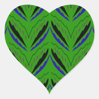 Adesivo Coração Eco verde dos elementos do design