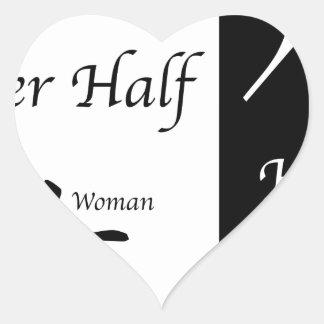 Adesivo Coração Ela e sua metade