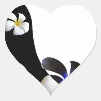 Adesivo Coração Elegante preto alto-colocou saltos calçados.